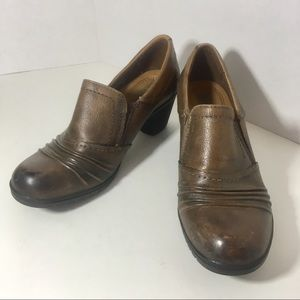 Drexlite Women's 7 M Brown Leather Shoes Comfort